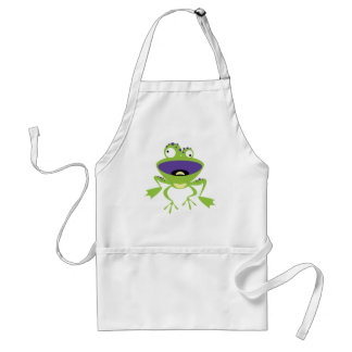 Funny Frog Adult Apron
