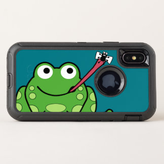Funny Frog and Fly OtterBox Defender iPhone X Case