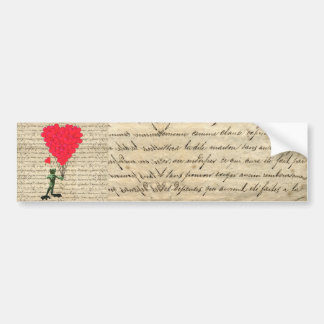 Funny frog and heart balloons bumper sticker