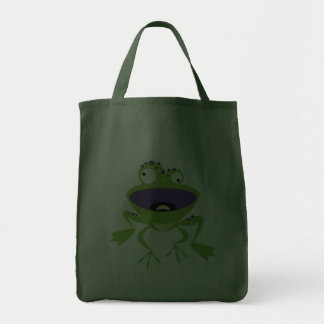 Funny Frog Grocery Tote Bag