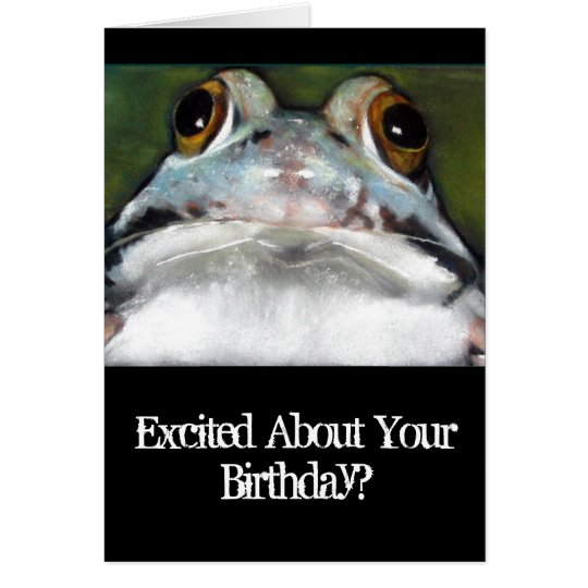 Funny Frog, Birthday Card: Original Art Card