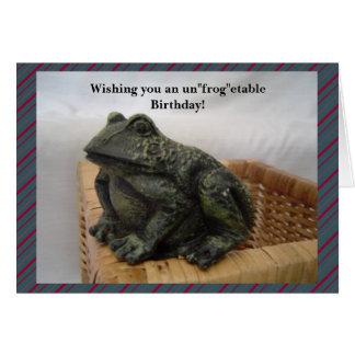 Funny Frog Birthday Greeting Card