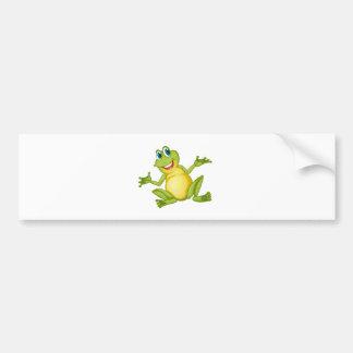 funny frog bumper sticker
