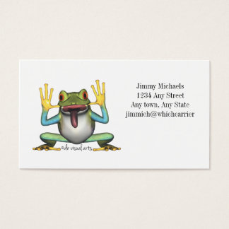 Funny Frog Business card