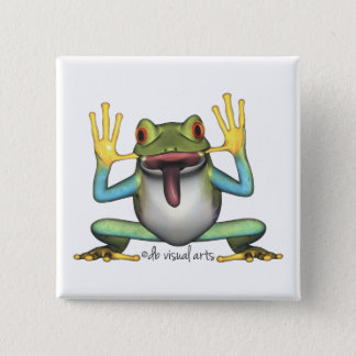 Funny Frog Button
