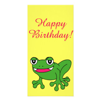 Funny frog card