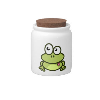 Funny frog cartoon candy dish