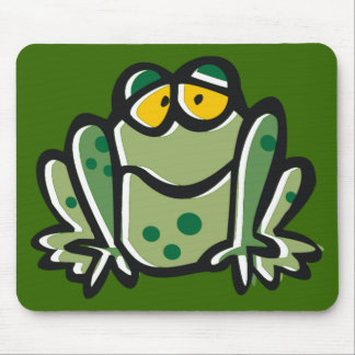 Funny Frog Cartoon Mouse Pad