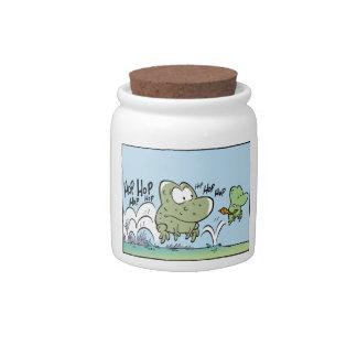 Funny Frog Cartoon Office Candy Jar