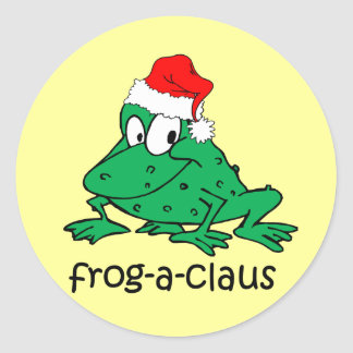funny frog classic round sticker