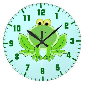 funny frog wall clocks
