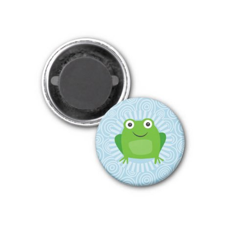Funny Frog - Cute Froggy On Blue Magnet