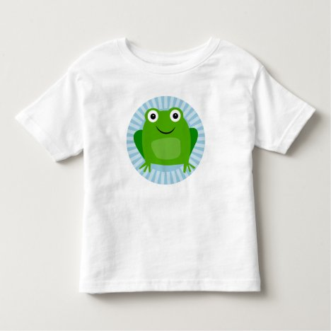 Funny Frog - Cute Froggy On Blue Toddler T-shirt