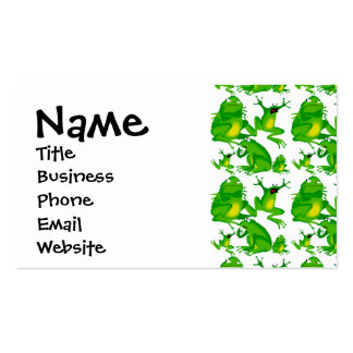Funny Frog Emotions Angry Mad Curious Scared Frogs Double-Sided Standard Business Cards (Pack Of 100)