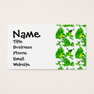 Funny Frog Emotions Angry Mad Curious Scared Frogs Business Card