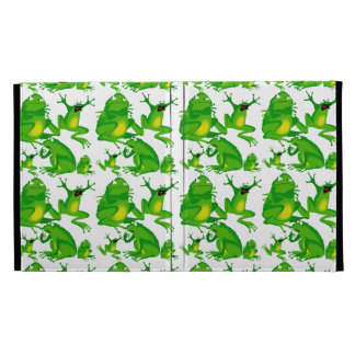 Funny Frog Emotions Angry Mad Curious Scared Frogs iPad Case