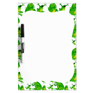 Funny Frog Emotions Angry Mad Curious Scared Frogs Dry-Erase Board