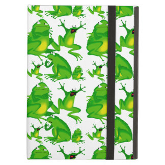 Funny Frog Emotions Angry Mad Curious Scared Frogs iPad Cover