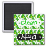 Funny Frog Emotions Angry Mad Curious Scared Frogs Fridge Magnet
