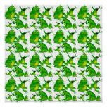 Funny Frog Emotions Angry Mad Curious Scared Frogs Print