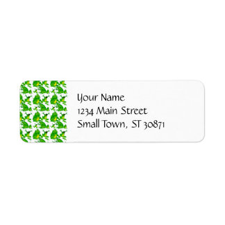 Funny Frog Emotions Angry Mad Curious Scared Frogs Return Address Label
