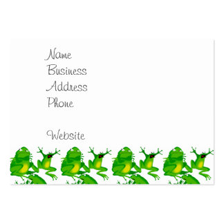 Funny Frog Emotions Mad Curious Scared Frogs Large Business Cards (Pack Of 100)