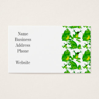 Funny Frog Emotions Mad Curious Scared Frogs Business Card