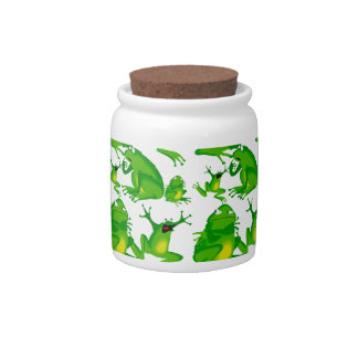 Funny Frog Emotions Mad Curious Scared Frogs Candy Jars
