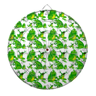 Funny Frog Emotions Mad Curious Scared Frogs Dart Board
