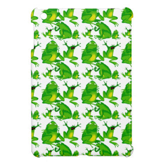 Funny Frog Emotions Mad Curious Scared Frogs iPad Mini Cover