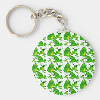 Funny Frog Emotions Mad Curious Scared Frogs Keychains