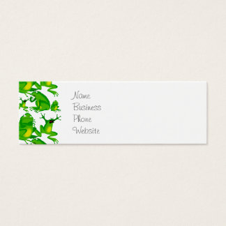 Funny Frog Emotions Mad Curious Scared Frogs Mini Business Card
