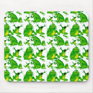 Funny Frog Emotions Mad Curious Scared Frogs Mouse Pad