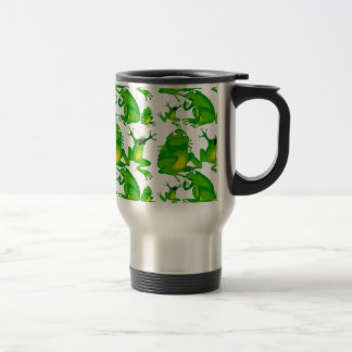 Funny Frog Emotions Mad Curious Scared Frogs 15 Oz Stainless Steel Travel Mug