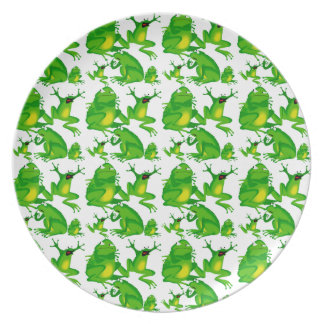 Funny Frog Emotions Mad Curious Scared Frogs Dinner Plate