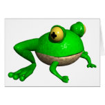 Funny Frog Greeting Card
