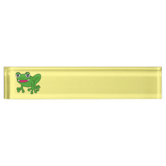 Funny frog nameplate
