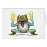 Funny Frog Note Cards Note Card