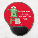 Funny Frog Nurse with Needle Mousepad Gel Mouse Pad