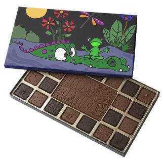 Funny Frog on Alligator Nose Art Chocolates