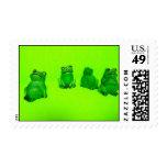 Funny Frog Postage Stamp