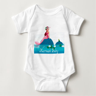 Funny Frog Prince and the Sweet Little Mermaid Baby Bodysuit