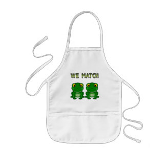 Funny Frog Twins Aprons