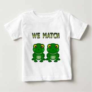 Funny Frog Twins Baby T-Shirt