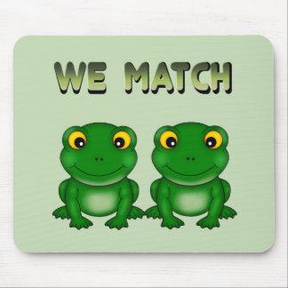 Funny Frog Twins Mousepad