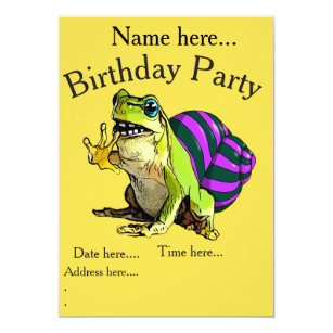 Funny frog birthday invitations announcements zazzle funny frog with snail shell birthday invitations filmwisefo