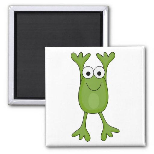 funny froggy frog 2 inch square magnet
