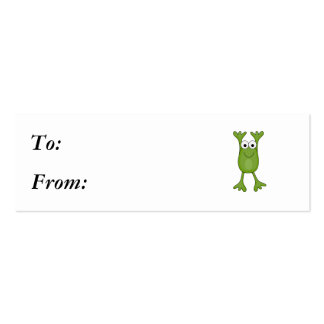 funny froggy frog mini business card