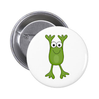 funny froggy frog pinback button