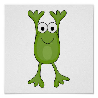 funny froggy frog posters